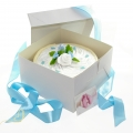 Pampers Windeltorte für Junge in Cakebox blau